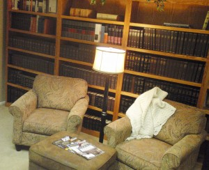 Comfortable seating in the Reading Room